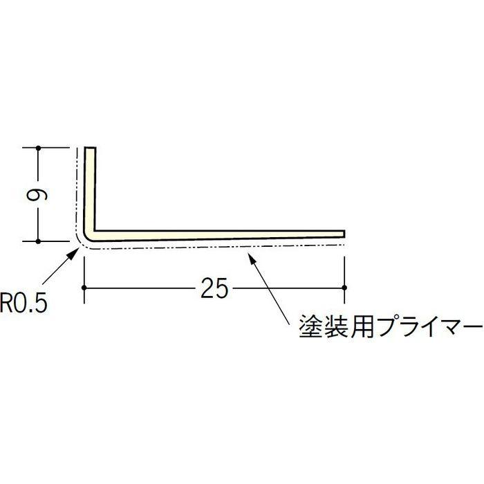 ペンキ・クロス下地材 ドア廻り ビニール L型コーナー9×25プライマー付 ミルキー 2.5m  01312-1