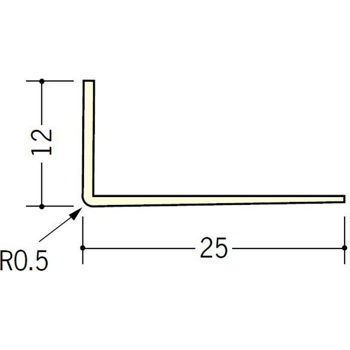 ペンキ・クロス下地材 ドア廻り ビニール L型コーナー12×25 ミルキー 2.73m  01040-2