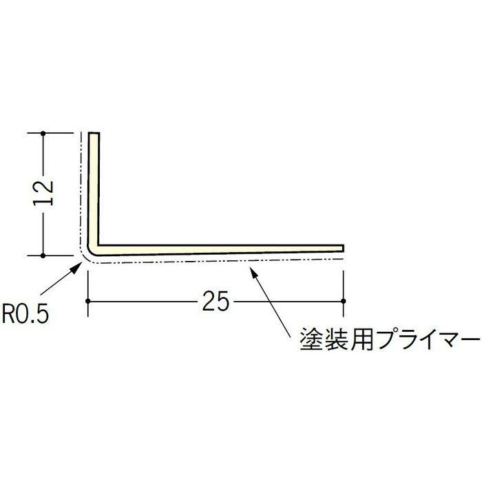 ペンキ・クロス下地材 ドア廻り ビニール L型コーナ12×25プライマー付 ミルキー 2.73m  01313-2