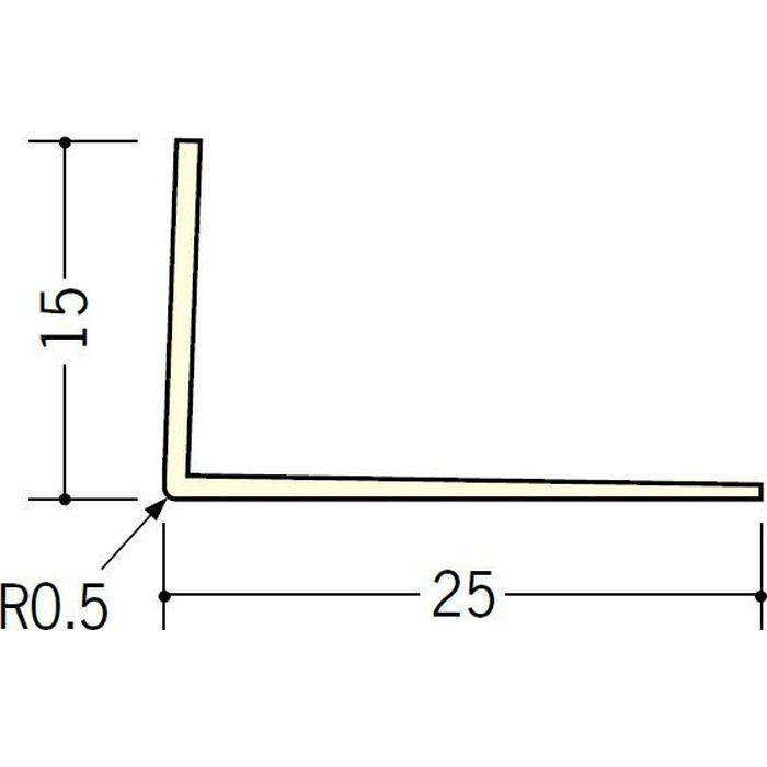 ペンキ・クロス下地材 ドア廻り ビニール L型コーナー15×25 ミルキー 2.5m  01037-1