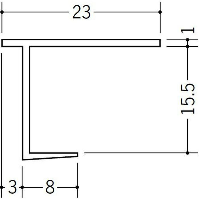 クロス見切 15型 ホワイト 2.3m 34039