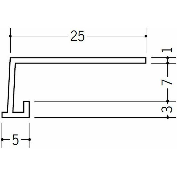 コ型見切縁 ビニール 見切 FC-6S ホワイト 1.82m  33032