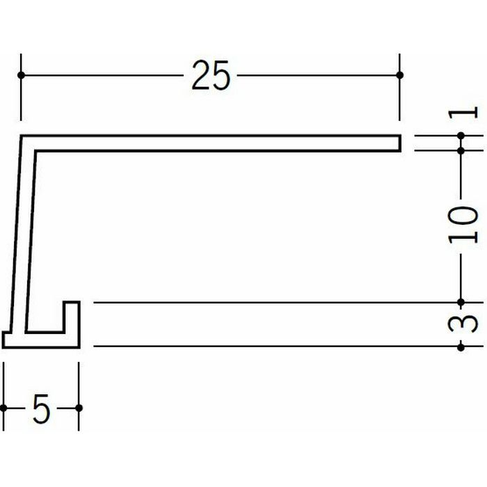 コ型見切縁 ビニール 見切 FC-9S ホワイト 1.82m  33030
