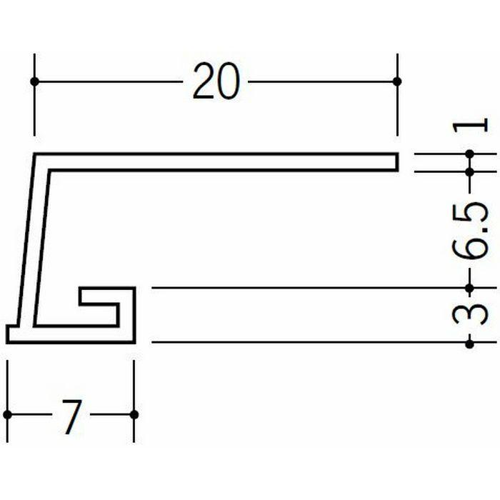 コ型見切縁 ビニール 見切 EV-6.5 ホワイト 1.82m  33025