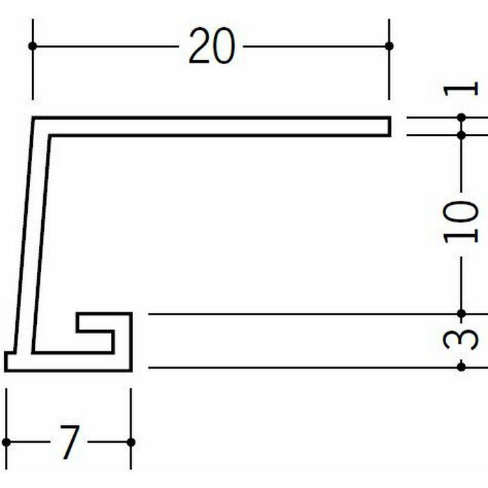 コ型見切縁 ビニール 見切 EV-10 ホワイト 1.82m  33026