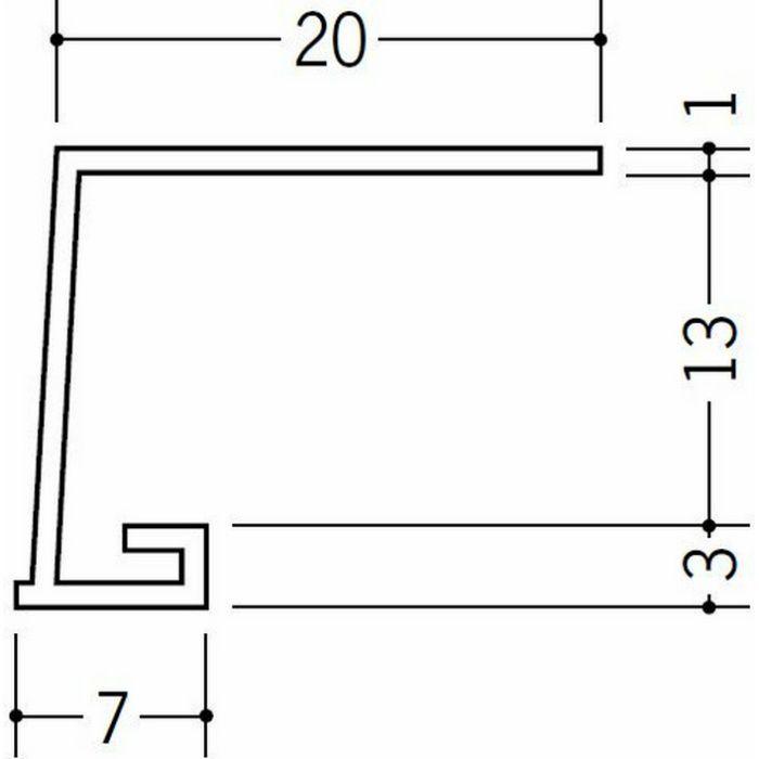 コ型見切縁 ビニール 見切 EV-13 ホワイト 1.82m  33027