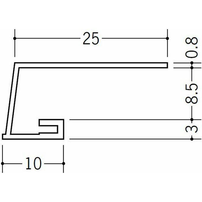 コ型見切縁 ビニール 見切 A3-8.5 ホワイト 1.82m  33005