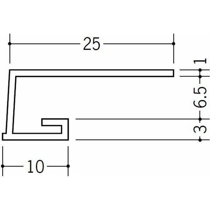 コ型見切縁 ビニール 見切 A1-7N ホワイト 1.82m  33043
