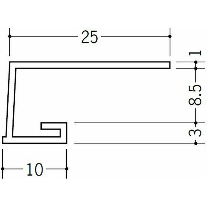 コ型見切縁 ビニール 見切 A1-8.5N ホワイト 1.82m  33048