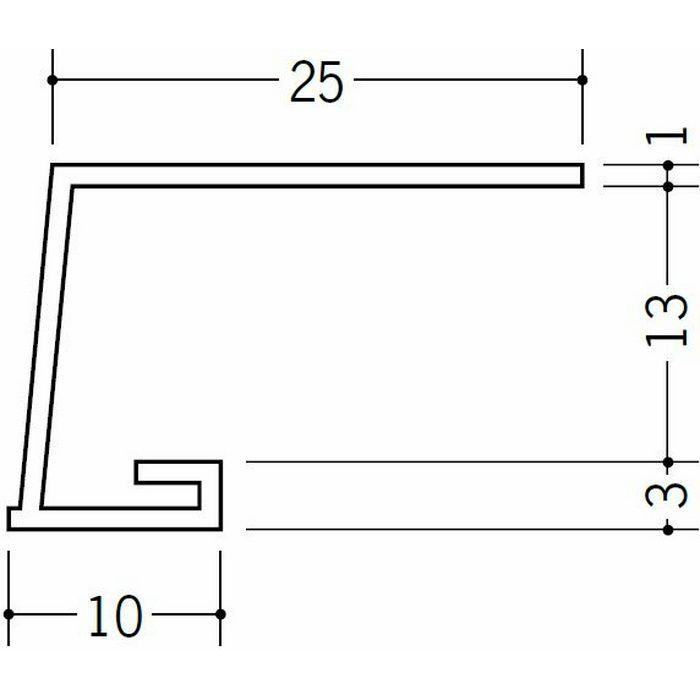 コ型見切縁 ビニール 見切 A1-13N ホワイト 1.82m  33045