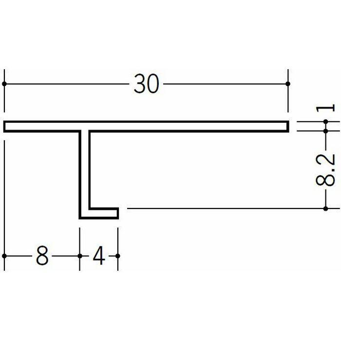 目透かし型見切縁 ビニール 見切 PA-8 ホワイト 2m  33117