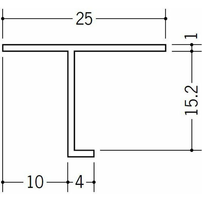 目透かし型見切縁 ビニール 見切 TV-15 ホワイト 1.82m  33074