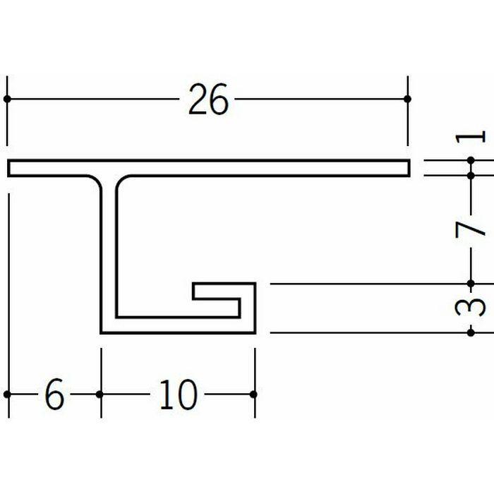 目透かし型見切縁 ビニール 見切 VC-6 ホワイト 1.82m  33058