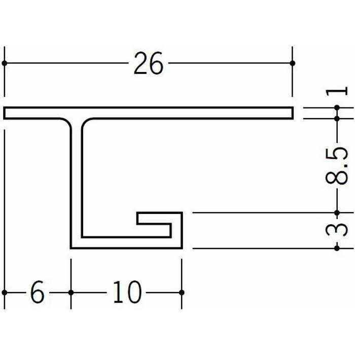 目透かし型見切縁 ビニール 見切 VC-8 ホワイト 1.82m  33281