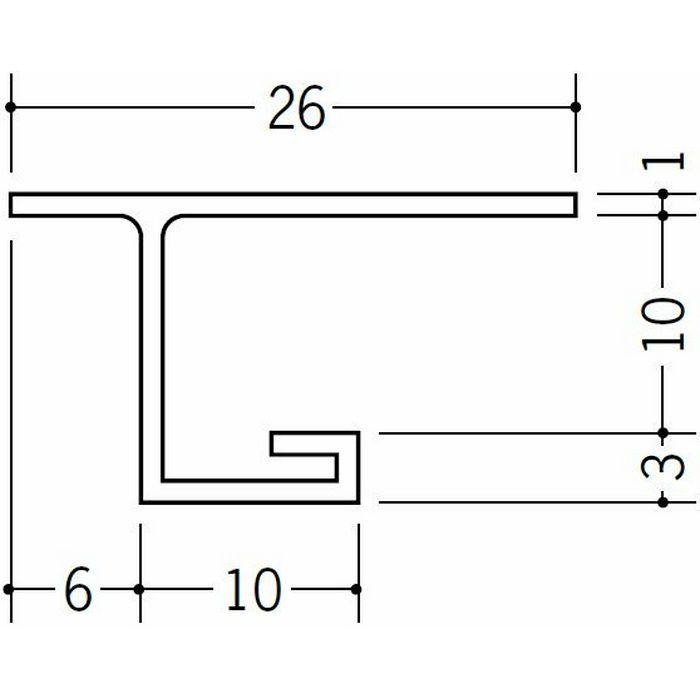 目透かし型見切縁 ビニール 見切 VC-9 ホワイト 1.82m  33059