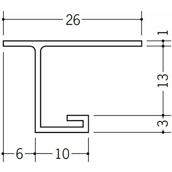 目透かし型見切縁 ビニール 見切 VC-12 ホワイト 1.82m  33060