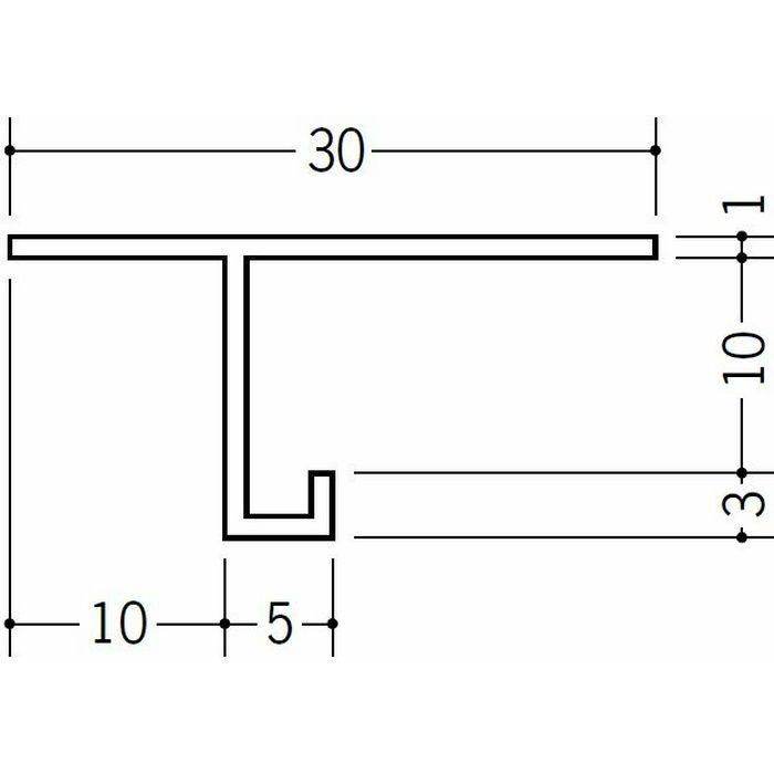目透かし型見切縁 ビニール 見切 MTS-10 ホワイト 2m  33139