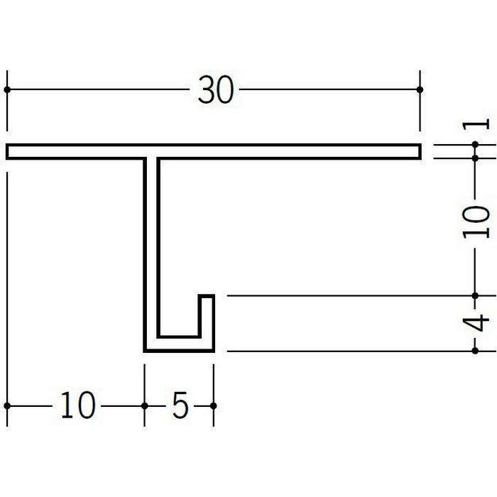 目透かし型見切縁 ビニール 見切 M-9 ホワイト 1.82m  33023