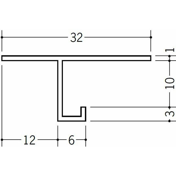 目透かし型見切縁 ビニール 見切 VTM-10 ホワイト 2m  31101
