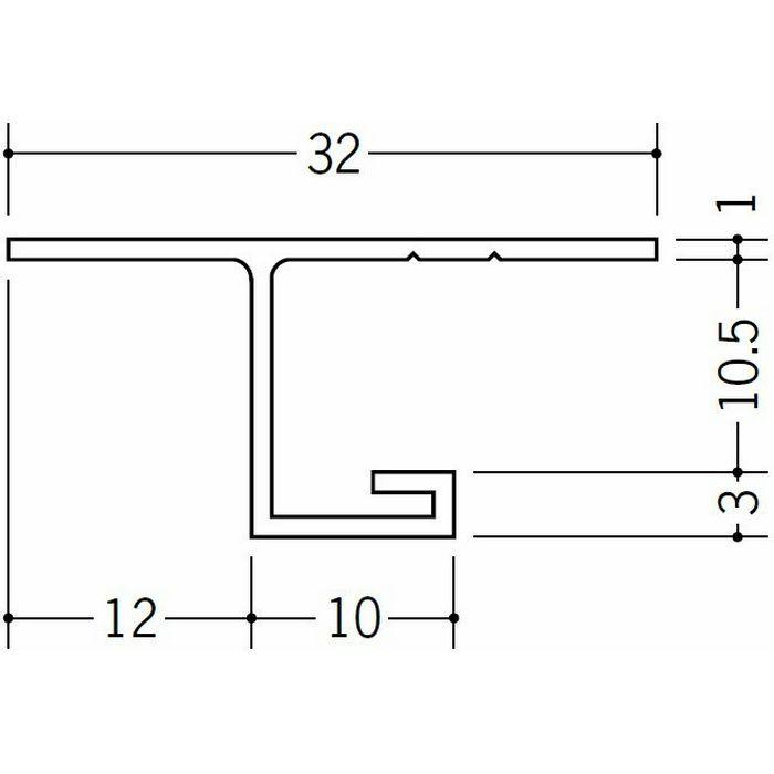 目透かし型見切縁 ビニール 見切 V-10.5 ホワイト 1.82m  33033