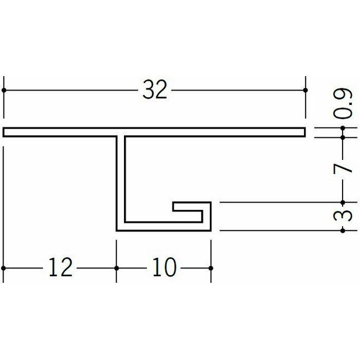 目透かし型見切縁 ビニール V3-6出隅45R 1/4円 ホワイト   33078045