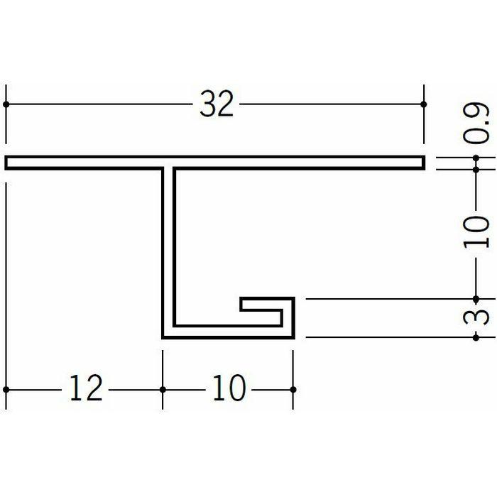 目透かし型見切縁 ビニール V3-9出隅30R 1/4円 ホワイト   33079030