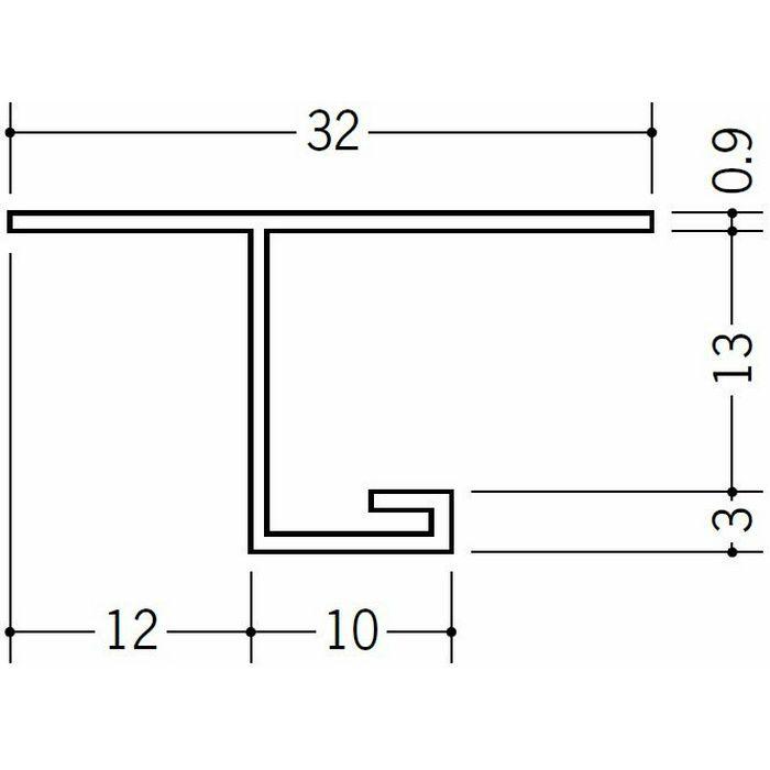 目透かし型見切縁 ビニール V3-12出隅40R 1/4円 ホワイト   33080040