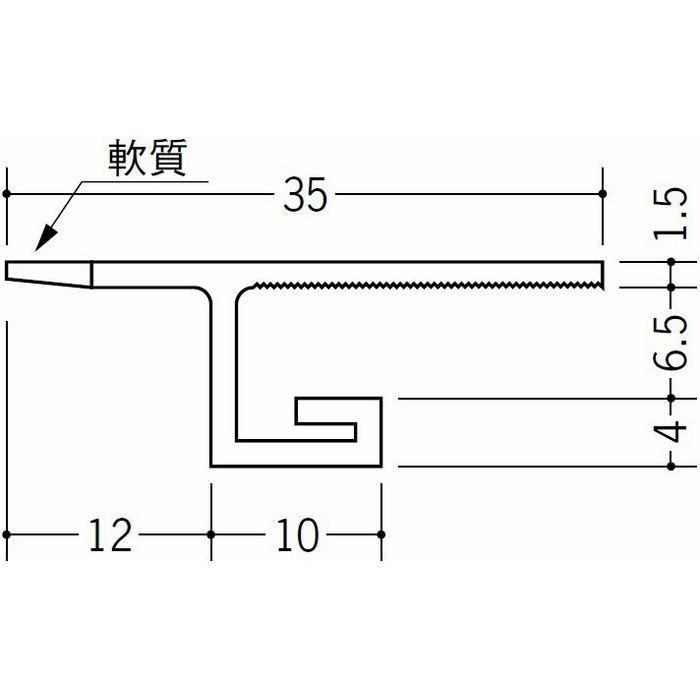 目透かし型見切縁 ビニール 見切 NB-23 ホワイト 2m  33035