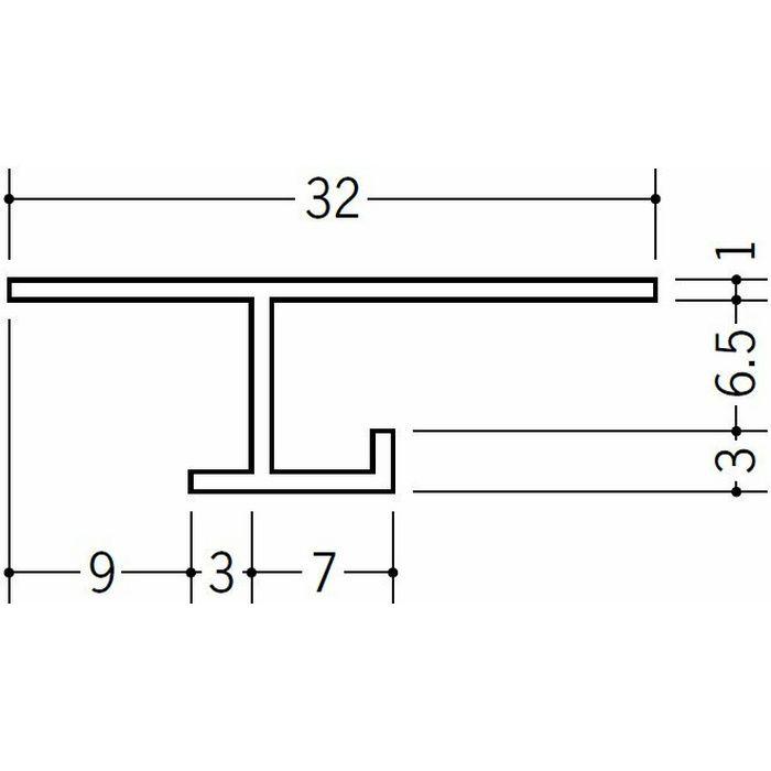 目透かし型見切縁 ビニール 見切 VH-6.5 ホワイト 2m  34131