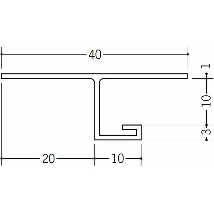 目透かし型見切縁 ビニール 見切 SV-10 ホワイト 2.5m  33063