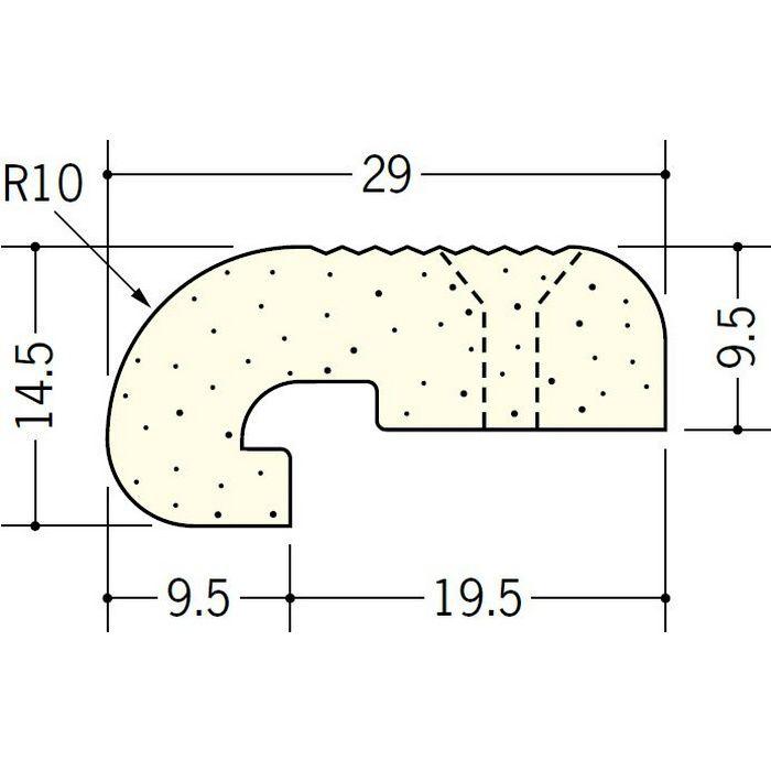ペンキ・クロス下地材 出隅 ビニール 発泡コーナー10R 9.5mm ミルキー 2.6m  01265