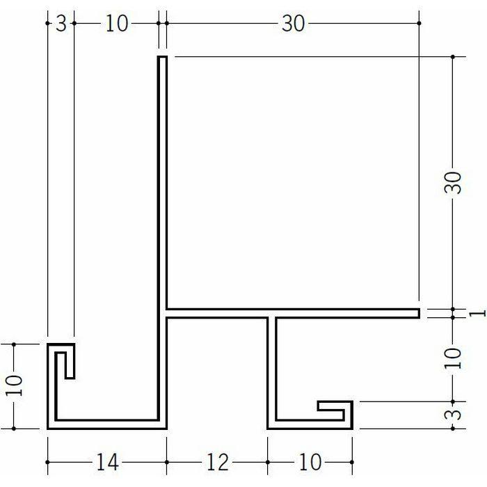 下がり壁用見切縁 ビニール 見切 DS-909 ホワイト 2m  31107