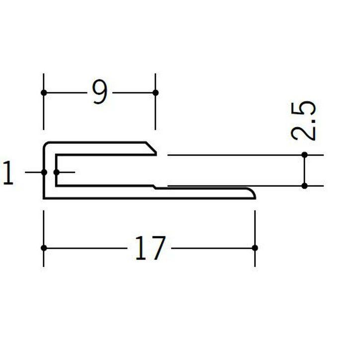 コ型ジョイナー ビニール GC-2.5 ホワイト 2.42m  35041-2
