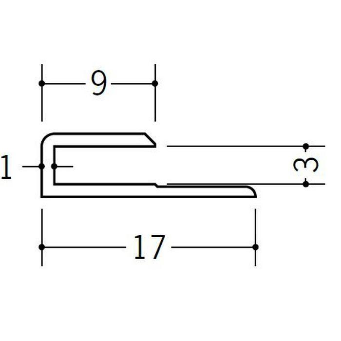 コ型ジョイナー ビニール GC-3 ホワイト 2.42m  35051-2