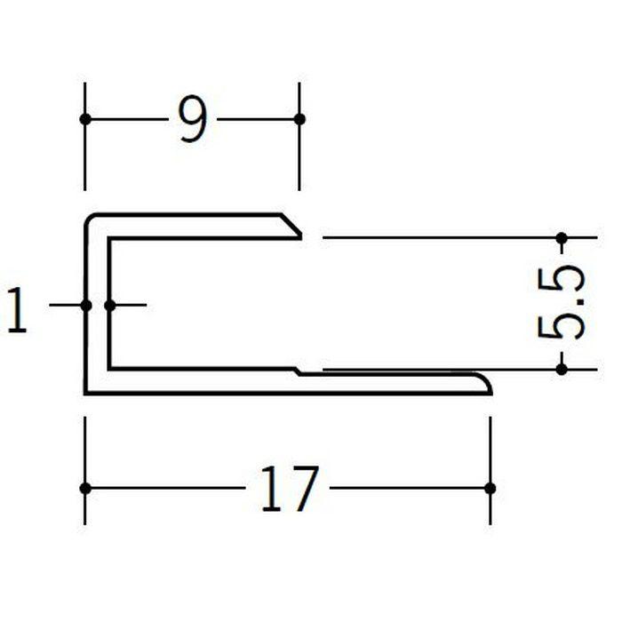 コ型ジョイナー ビニール GC-5.5 ホワイト 2.42m  35044-2