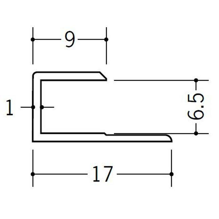 コ型ジョイナー ビニール GC-6.5 ホワイト 1.82m  35045-1
