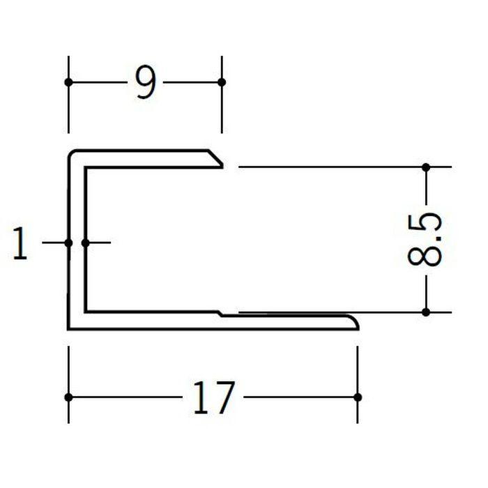コ型ジョイナー ビニール GC-8.5 ホワイト 2.42m  35050-2