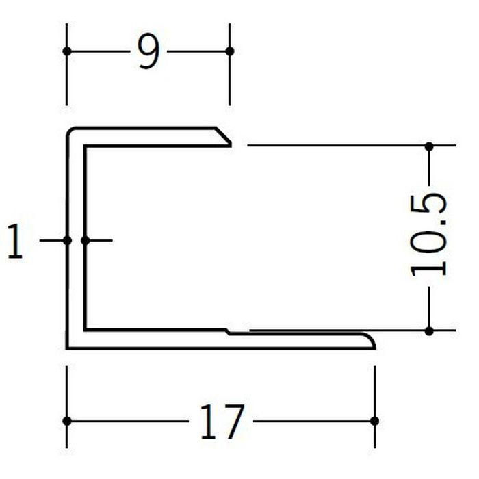コ型ジョイナー ビニール GC-10.5 ホワイト 2.42m  35100-2
