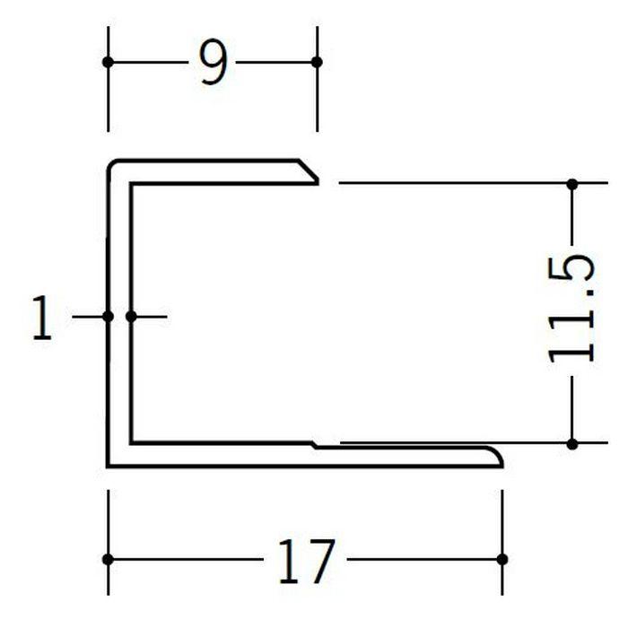 コ型ジョイナー ビニール GC-11.5 ホワイト 1.82m  35052-1