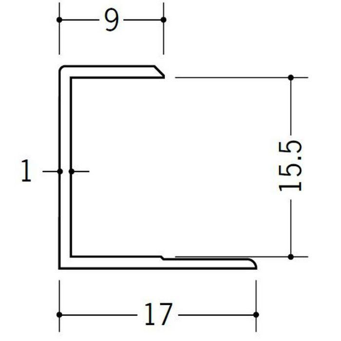 コ型ジョイナー ビニール GC-15.5 ホワイト 2.42m  35048-2