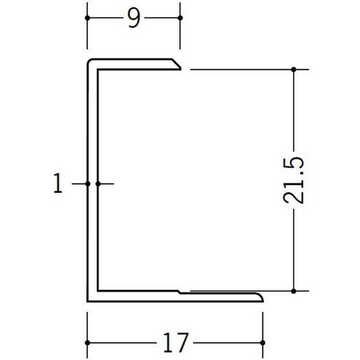 コ型ジョイナー ビニール GC-21.5 ホワイト 2.42m  35049-2