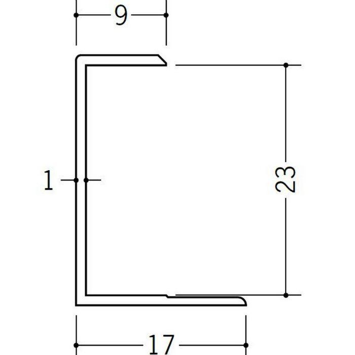 コ型ジョイナー ビニール GC-23 ホワイト 1.82m  35102-1