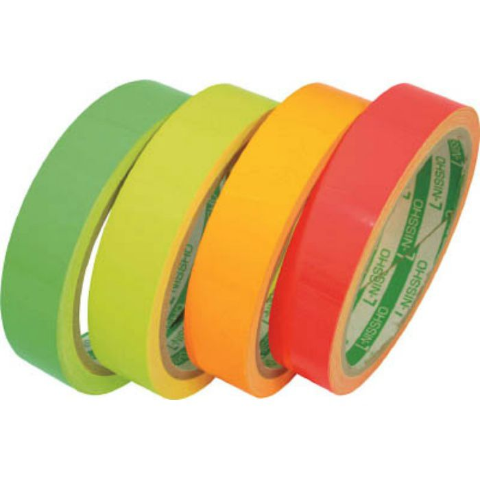LK90GN 蛍光テープ 90mmX5m グリーン