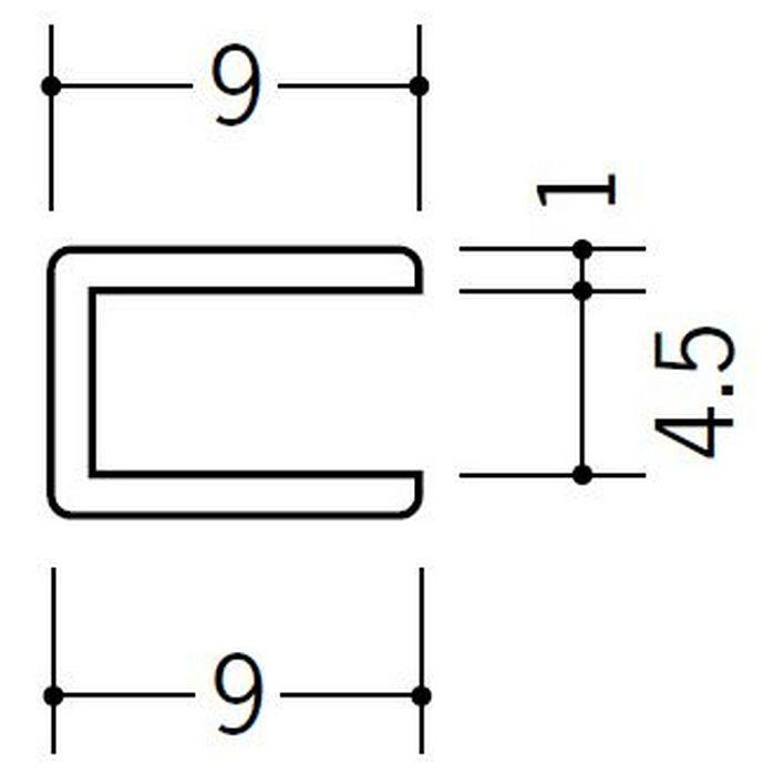 コ型ジョイナー ビニール 4.5CCP ホワイト 2.73m  33186
