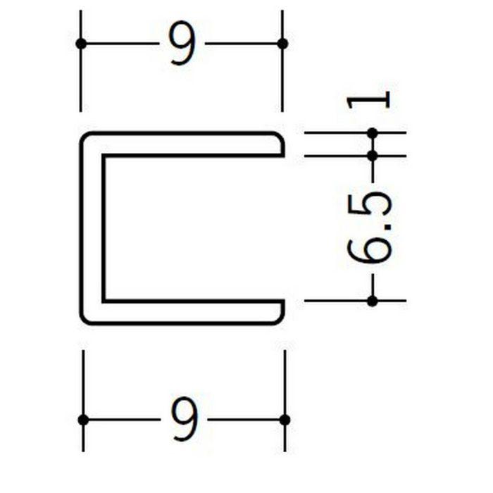 コ型ジョイナー ビニール 6.5CCP ホワイト 2.73m  33188