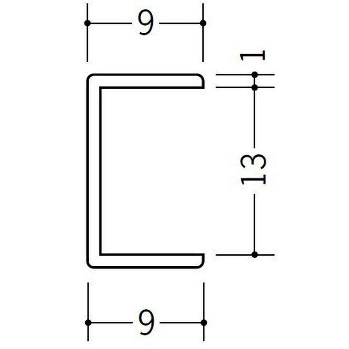 コ型ジョイナー ビニール 13CCP ホワイト 2.73m  33191