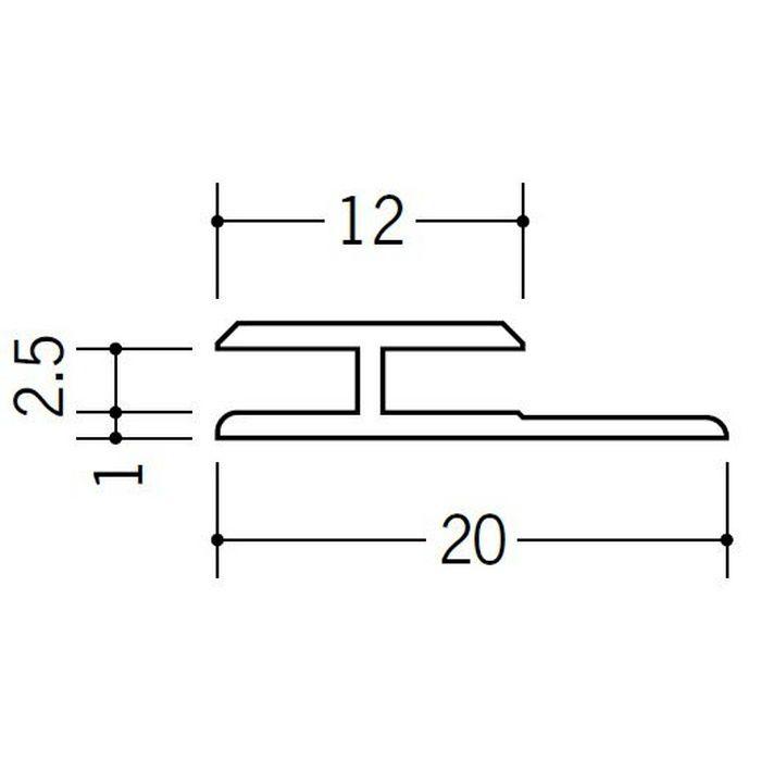 H型ジョイナー ビニール HG-2.5 ホワイト 2.42m  35031-2
