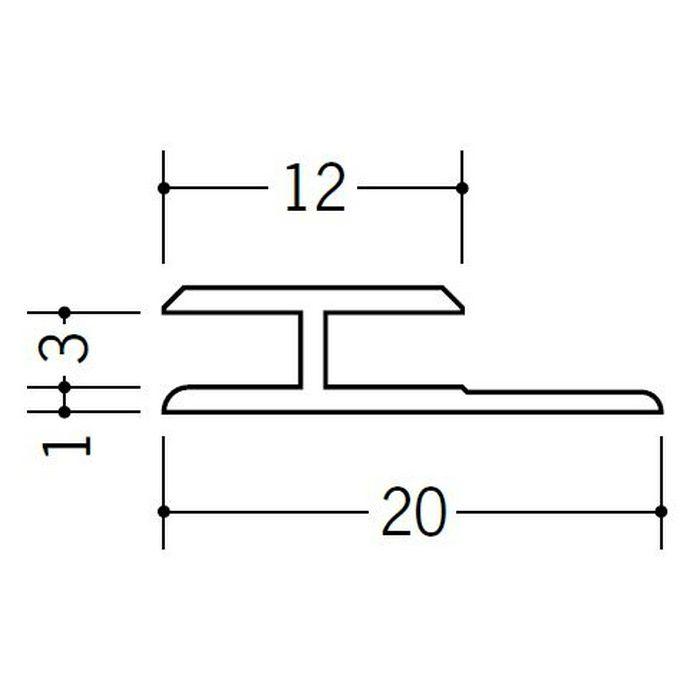 H型ジョイナー ビニール HG-3 ホワイト 2.42m  35030-2