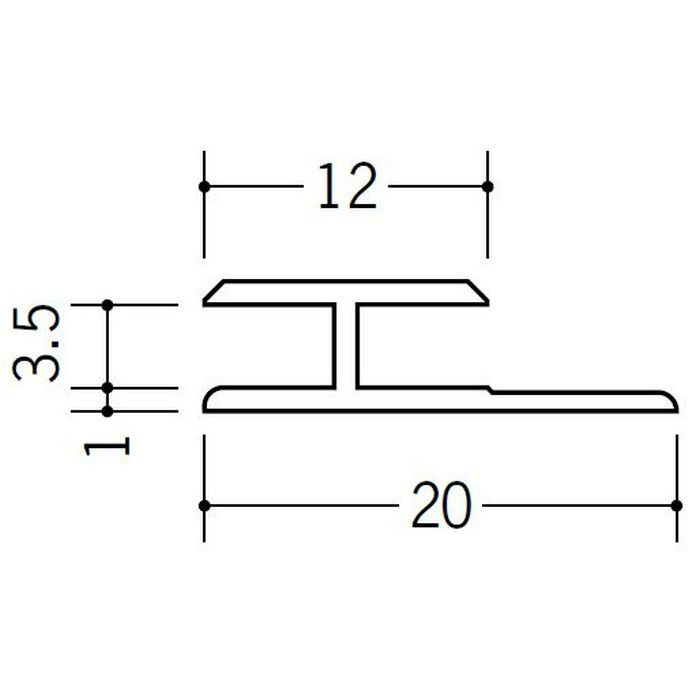 H型ジョイナー ビニール HG-3.5 ホワイト 2.42m  35032-2