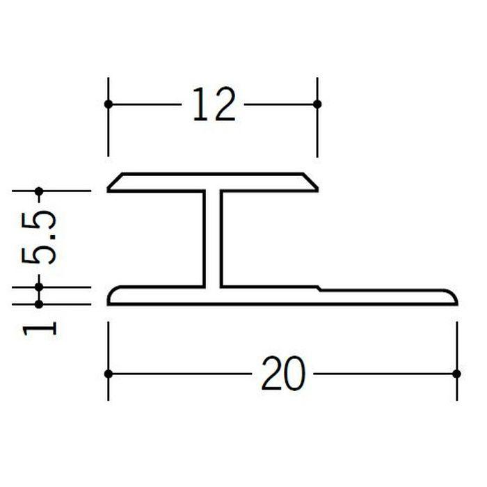 H型ジョイナー ビニール HG-5.5 ホワイト 2.42m  35034-2
